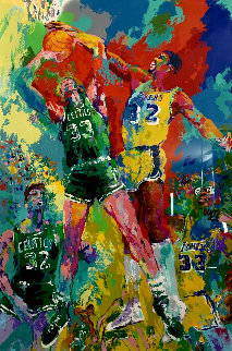 Magic Johnson and Larry Bird 1991 Limited Edition Print by LeRoy Neiman