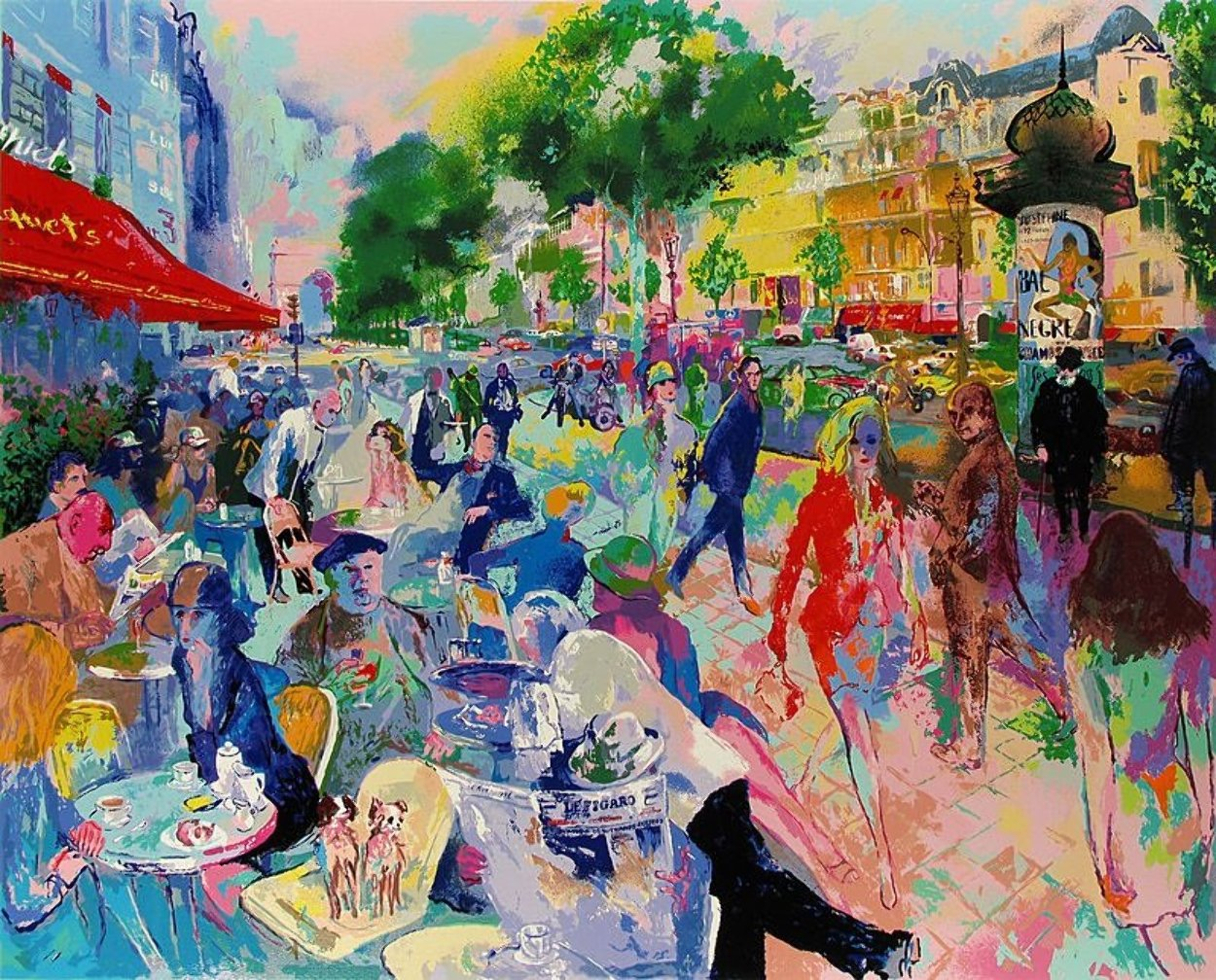 Cafe Fouquet's Limited Edition Print by LeRoy Neiman