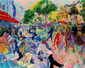 Cafe Fouquet's Limited Edition Print - LeRoy Neiman