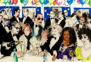 Celebrity Night At Spagos Limited Edition Print - LeRoy Neiman