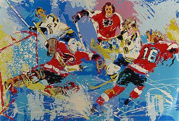 Philadelphia Flyers (Boston Bruins) Limited Edition Print by LeRoy Neiman