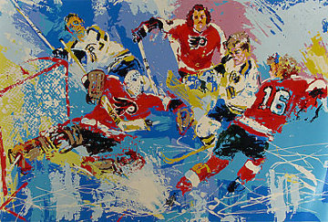 Philadelphia Flyers (Boston Bruins) Limited Edition Print - LeRoy Neiman