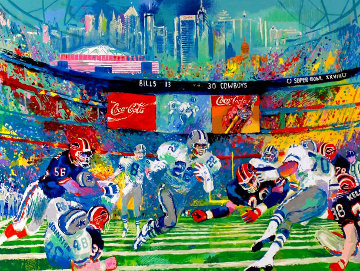 Georgia Dome (Emmett Smith) 1994 Limited Edition Print by LeRoy Neiman