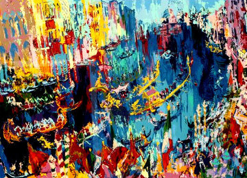 Venice Gondliers 1975 Limited Edition Print - LeRoy Neiman