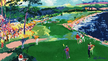 18th At Pebble Beach HS Poster Limited Edition Print by LeRoy Neiman
