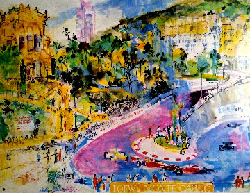 34th Monaco Grand Prix Poster 1976 HS  Limited Edition Print - LeRoy Neiman
