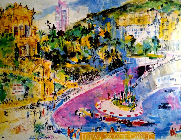 34th Monaco Grand Prix Poster 1976 HS  Limited Edition Print by LeRoy Neiman
