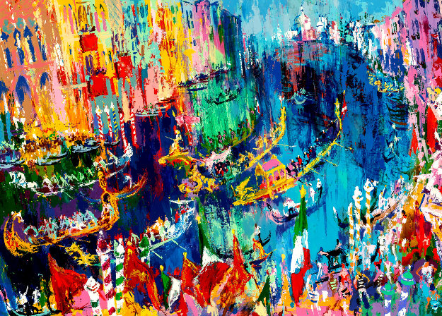 Regatta of the Gondolier 1978 Limited Edition Print by LeRoy Neiman