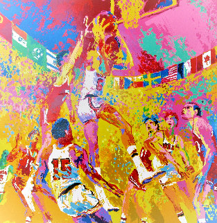 Basketball: Olympic Suite AP 1972 Limited Edition Print - LeRoy Neiman