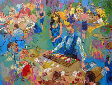 High Stakes Blackjack AP 2008 Limited Edition Print by LeRoy Neiman
