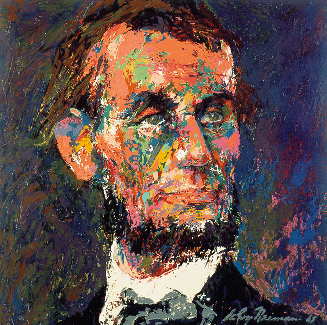 Lincoln 1969   Limited Edition Print by LeRoy Neiman