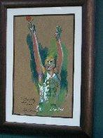 Untitled Portrait of Larry Bird 1992 30x22 Original Painting by LeRoy Neiman - 1