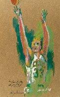 Untitled Portrait of Larry Bird 1992 30x22 Original Painting by LeRoy Neiman - 2