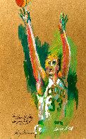 Untitled Portrait of Larry Bird 1992 30x22 Original Painting by LeRoy Neiman - 0