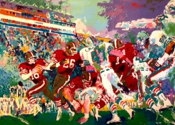 Post Season Football Classic 1985 Limited Edition Print - LeRoy Neiman