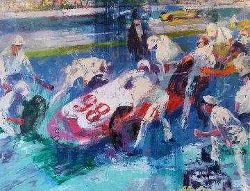 Indianapolis 500 Mile Race  1968 45x55 Parnelli Jones Original Painting - LeRoy Neiman