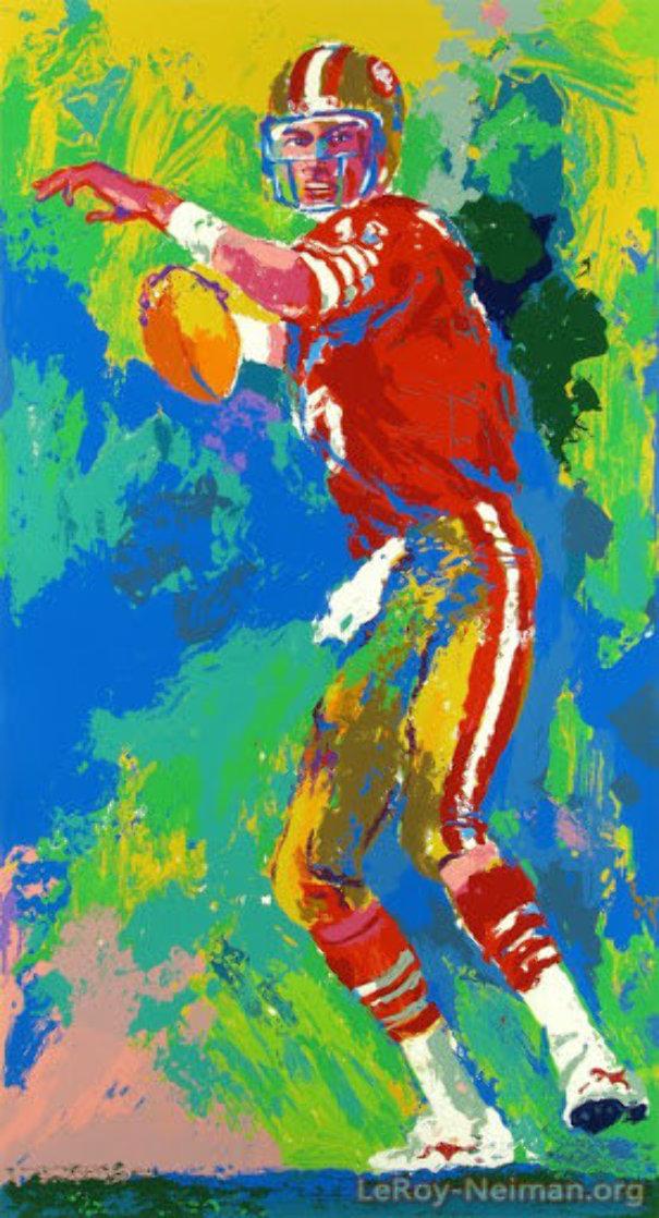 Quarterback of the 80's 1990 Joe Montana Limited Edition Print by LeRoy Neiman