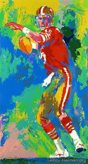 Quarterback of the 80's 1990 Joe Montana Limited Edition Print - LeRoy Neiman