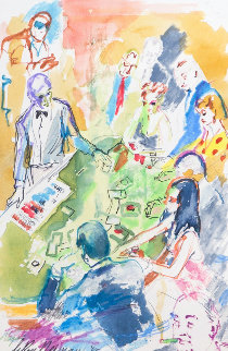 Vegas Blackjack 1985 41x34 Watercolor - LeRoy Neiman