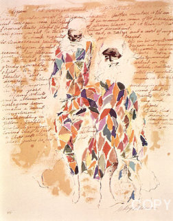 Harlequin With Text 1972 AP Limited Edition Print - LeRoy Neiman