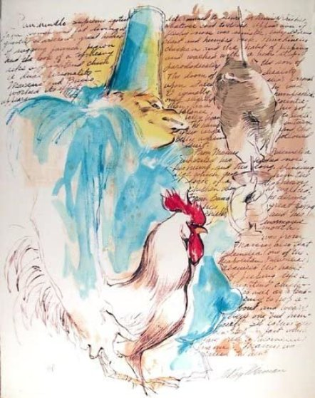 Punchinello With Text 1972 Limited Edition Print by LeRoy Neiman