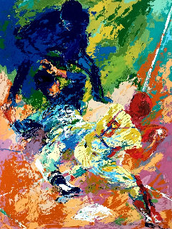 Sliding Home AP 1972 Limited Edition Print - LeRoy Neiman