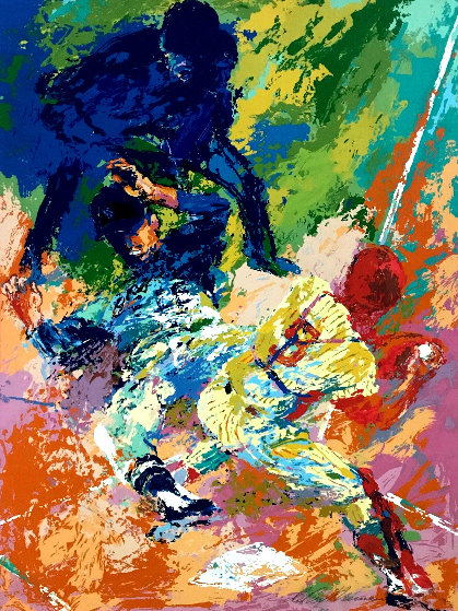 Sliding Home AP 1972 Limited Edition Print by LeRoy Neiman