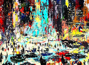 Plaza Square AP Limited Edition Print - LeRoy Neiman