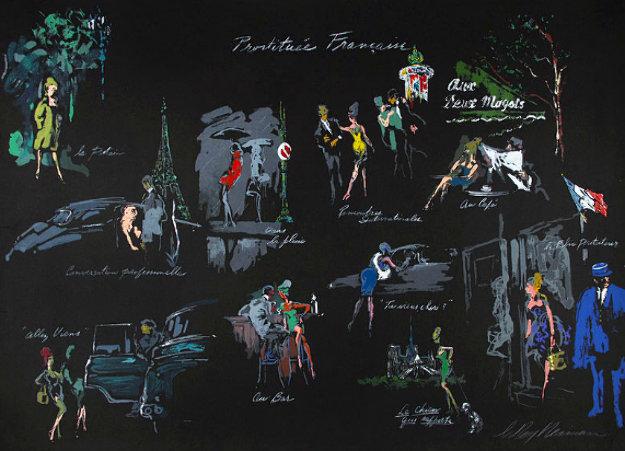 Le Nuit De Paris 1980 Limited Edition Print by LeRoy Neiman