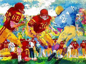 "Cross Town Rivalry 1994 UCLA vs USC Hand Signed  ""OJ"" Limited Edition Print - LeRoy Neiman"