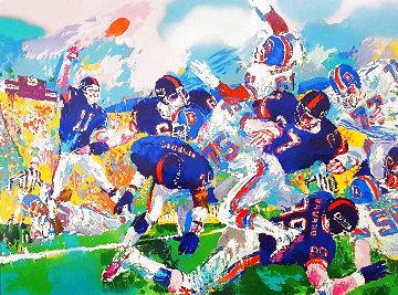 Giants - Broncos Classic Super Bowl 1987  Limited Edition Print - LeRoy Neiman