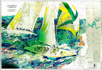 America's Cup - Australia #1 1986 Limited Edition Print - LeRoy Neiman