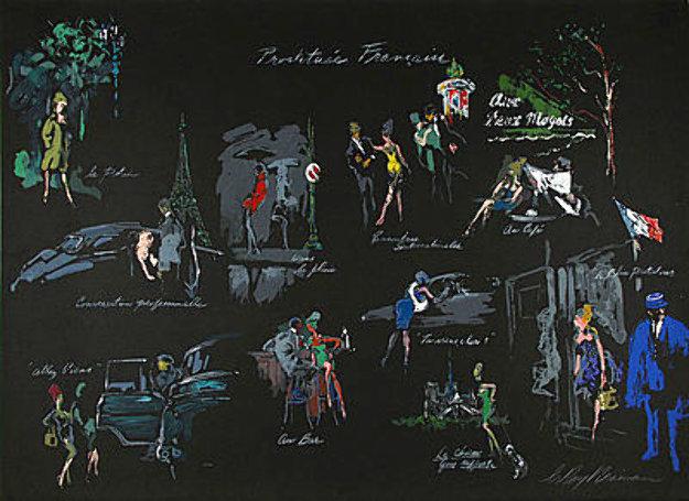 Prostitutee Francaise (La Nuit De Paris) 1980 Limited Edition Print by LeRoy Neiman