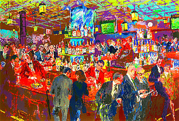 Harry's Wall Street Bar 1985 Limited Edition Print - LeRoy Neiman