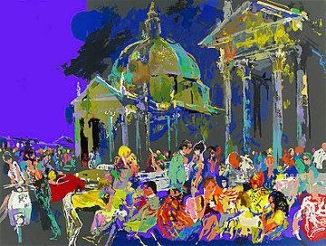 Piazza Del Popolo - Rome #1 1988 Limited Edition Print - LeRoy Neiman