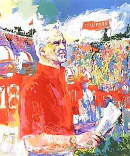 Coach Bill Walsh 1993 Limited Edition Print - LeRoy Neiman