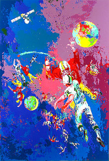 Satellite Football 1982 Limited Edition Print - LeRoy Neiman