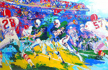 Rushing Back AP 1974 Limited Edition Print - LeRoy Neiman