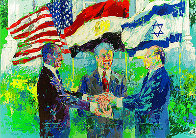 White House Signing of the Egyptian-Israeli Peace Treaty 1980 Limited Edition Print by LeRoy Neiman - 0