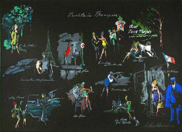 Prostitutee Francaise (La Nuit De Paris) 1980 30x41 Super Huge  Limited Edition Print - LeRoy Neiman