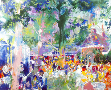 New York Suite: Tavern on the Green, Self Portrait, Catalog 1991 Limited Edition Print - LeRoy Neiman