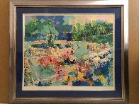 Bethesda Fountain - Central Park 1989 30x38 Huge  Limited Edition Print by LeRoy Neiman - 2