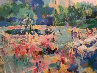 Bethesda Fountain - Central Park 1989 30x38 Huge  Limited Edition Print by LeRoy Neiman - 1