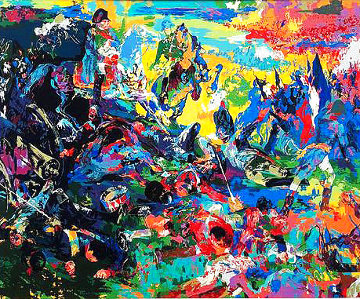 Napoleon At Waterloo 1988 Limited Edition Print - LeRoy Neiman