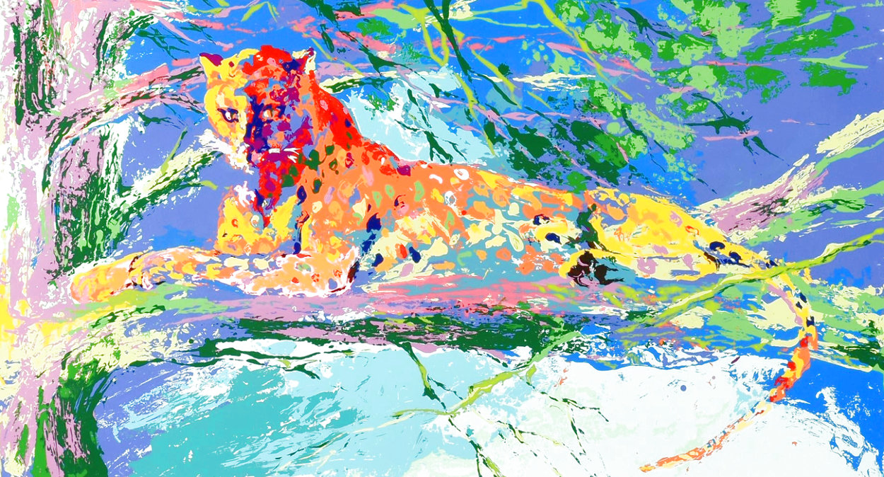 Kenya Leopard AP Limited Edition Print by LeRoy Neiman