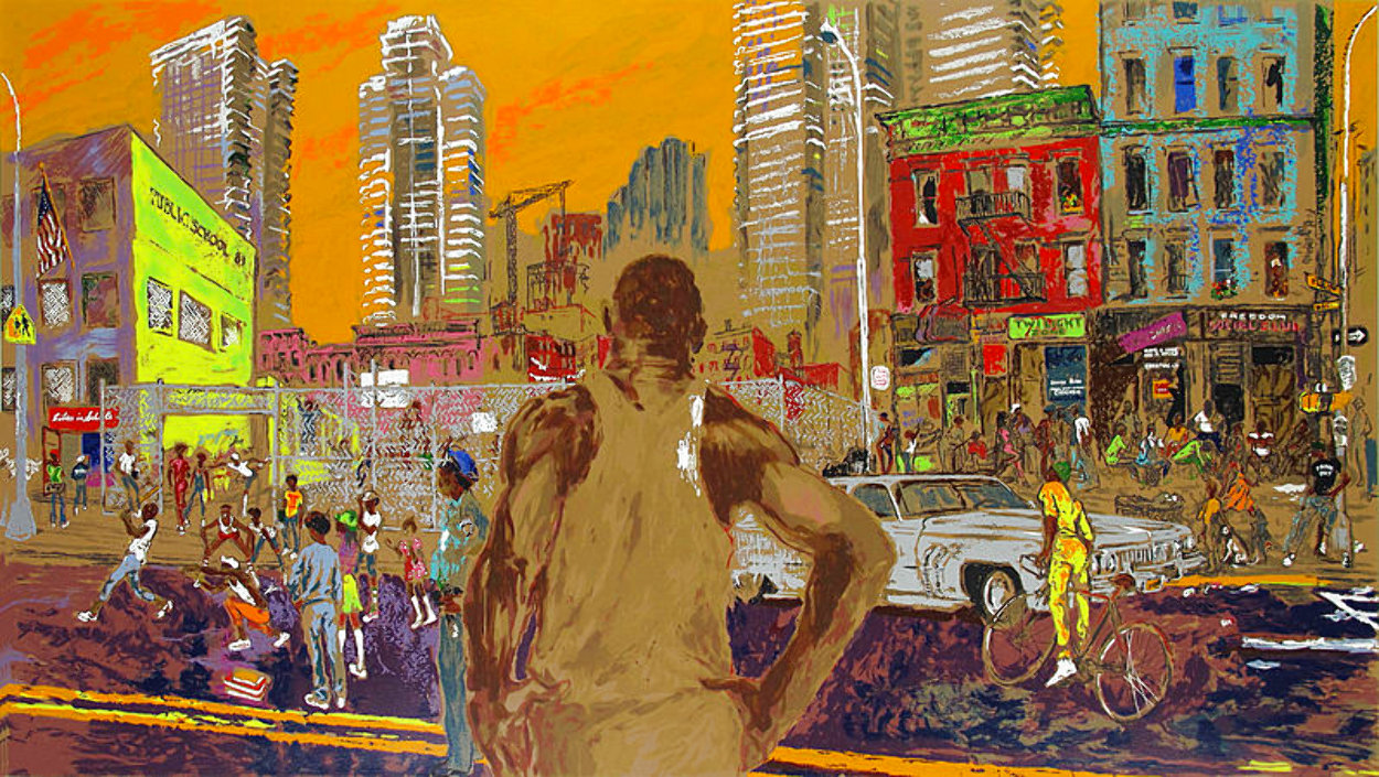 Harlem Streets - Cities in Schools 1982 Limited Edition Print by LeRoy Neiman