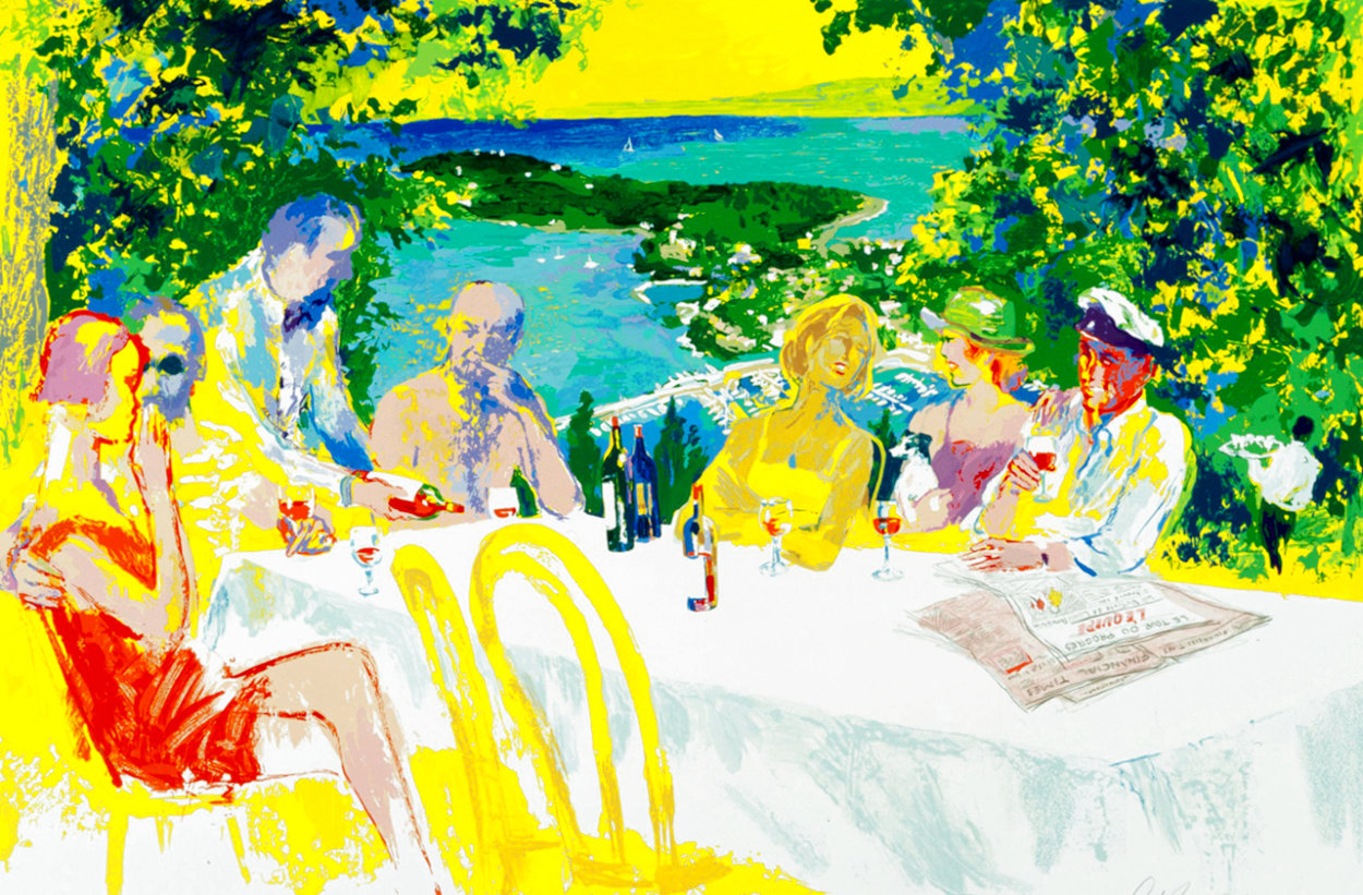 Wine Alfresco Limited Edition Print by LeRoy Neiman