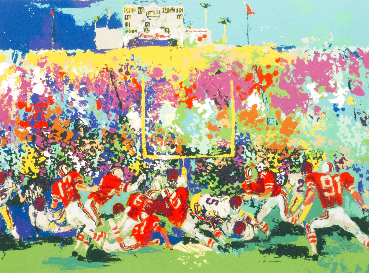 Buckeye Scoreboard Limited Edition Print by LeRoy Neiman