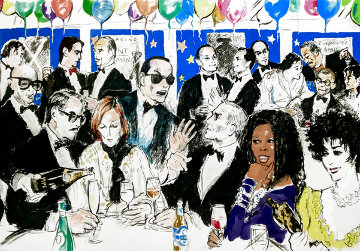 Celebrity Night At Spago 1993 Limited Edition Print - LeRoy Neiman