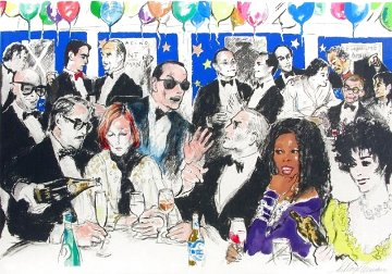 Celebrity Night At Spagos 1993 Limited Edition Print - LeRoy Neiman